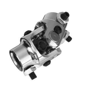"3/4-36 Spline X 3/4 DD Chrome Steering U Joint Coupler Mustang II Power Rack"""