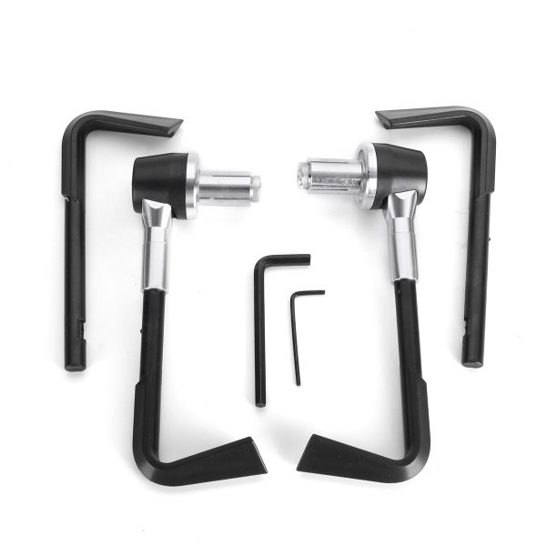7/8inch 22mm Brake Clutch Lever Protector Hand Guards Motorcycle Handguard Black Silver