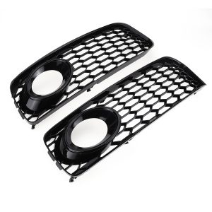 Front Fog Light Lamp Cover Grille Grill Honeycomb Hex Black For Audi A5 S-Line S5 B8 RS5 2008-2012