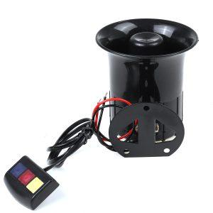 100W 12V 3 Tone Sound Loud Car Motorcycle Warning Alarm Police Fire Siren Horn