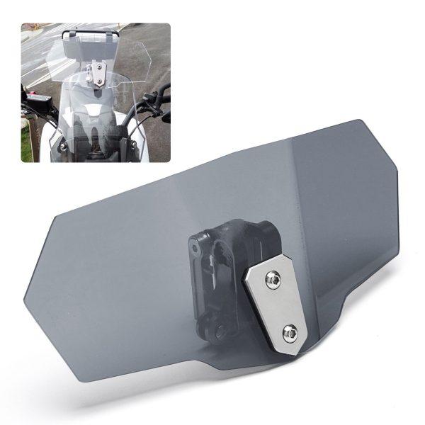 Motorcycle Windshield Screen Extension Spoiler Wind Deflector Adjustable Clip On Universal