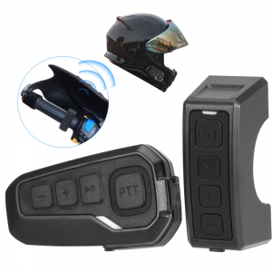 Motorcycle bluetooth Helmet Headset Remote Control Handle Wireless PTT MP3 GPS FM Connected Walkie-Talkie With CSR4.1 Waterproof Portable Noise Reduction For 6 Riders