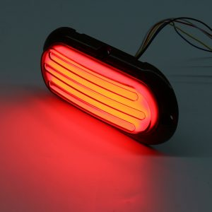 2 PCS Submersible Red LED Light Bar Stop Turn Tail 3rd Brake Light Truck Trailer