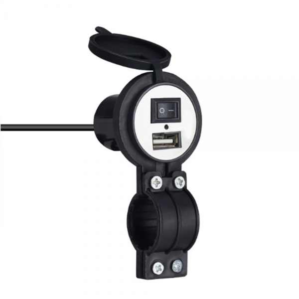 12V-24V 2.1A Quick Fast Charging USB Charger Waterproof Motorcycle Universal Safe With Switch