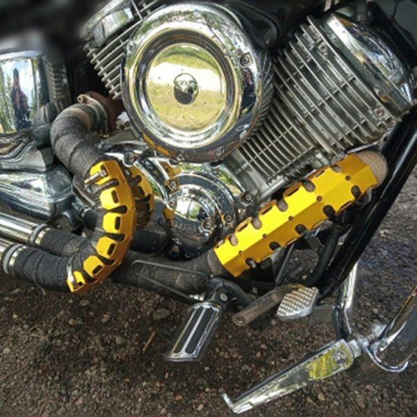 61cm Motorcycle Exhaust Muffler Pipe Protection Aluminum Heat Shield Cover For Honda/Yamaha Dirt Bike Accessories