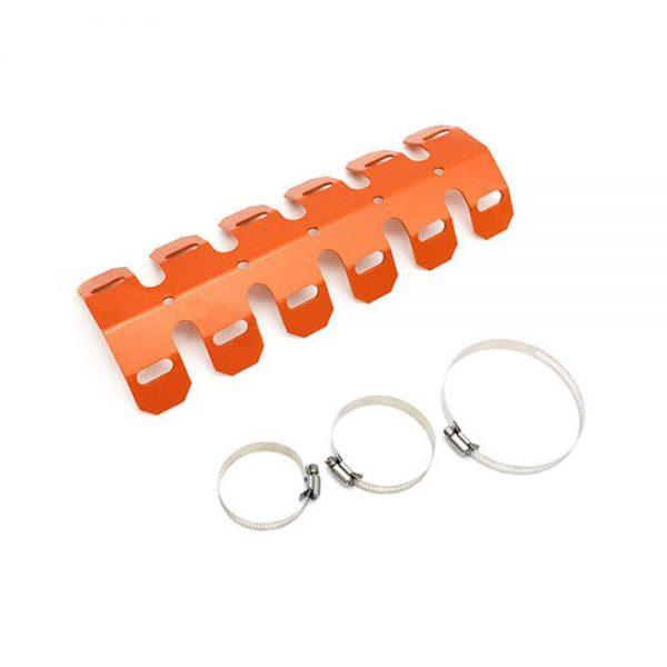 Motorcycle Exhaust Muffler Pipe Protector Heat Shield Cover Aluminum For Honda Chopper Cruiser Universal