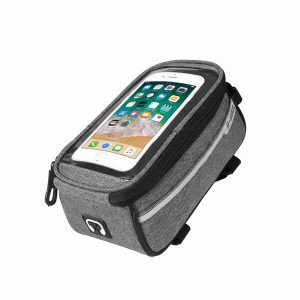 6.0 Inch Waterproof Phone Bag Case For Motorcycle Riding Bicycle Cyling Handlebar Frame Front Tube Accessories