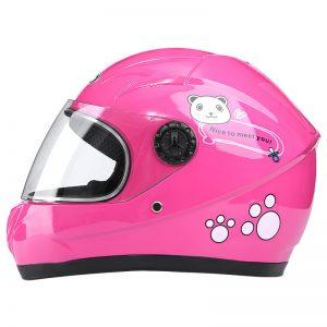 Nuoman Motorcycle Riding Electric Bike Helmet Children Outdoor Safety Motorcycle Kids Children Cute Bear Helmet