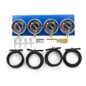 Motorcycle Carb Carburettor Fuel Vacuum Balancer 4 Cylinder Gauges Tool Kit
