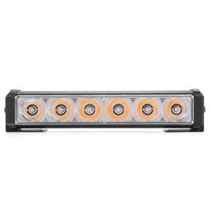 12V Yellow/White LED Strobe Flash Light 6 LEDs Police Warning Flashing Lamp