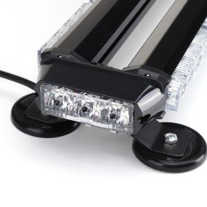 "12V 24 46LED Car Roof Double Side Emergency Strobe Flash Light Lamp Bar Amber For Car Truck Boat"""