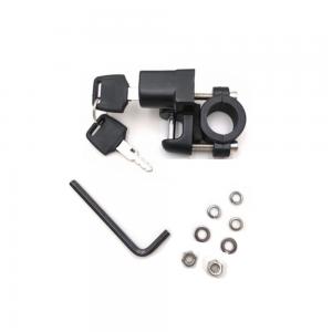 "Universal Motorcycle Helmet Lock Aluminum Alloy Locks with Keys For 7/8 22mm Handle Bar Motorbike Dirt Pit Sports Street Bike With Base"""