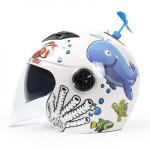 HNJ 44-50 3-12 Year Sunblock Breathable Comfortable Four Season All Children Kid Half Helmet