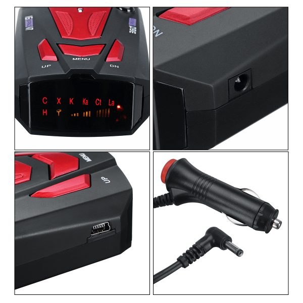 Speed Radar Detector English/Russian Voice Alert 360 16 Band Auto Warning