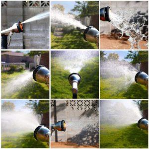 9 Pattern Hose Nozzle Water Spraier