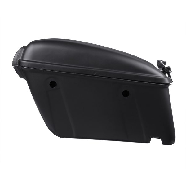 22L Pair Universal Motorcycle Hard Trunk Saddlebags Saddle Bags Side Box Rear
