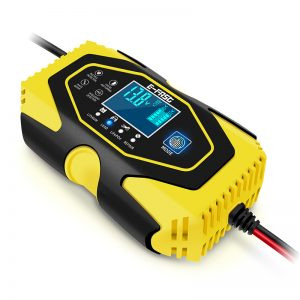 E-Fast 7 Stages Touch Screen LCD Display 12V 6A 24V 3A Car Motorcycle Lead Smart Battery Memory Function Charging Repair Charger Adaptor Lithium Battery Lead-Acid Agm Gel Wet LiFePO4 Batteries EU US AU UK Plug Yellow