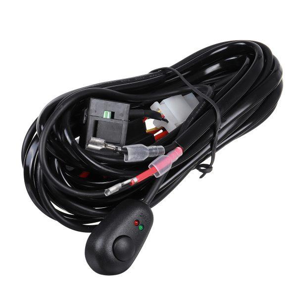12V 40A Relay Switch Control Led Light Bar Wiring Harness Fog Work Spot Kit Universal 2.0/3.0M
