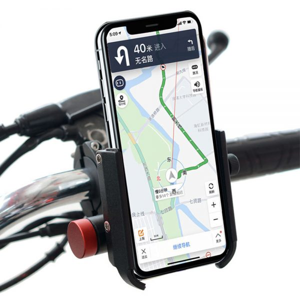 USB Charging Phone GPS Holder Bracket With Powerbank Aluminum Alloy Handlebar Mount For Motorcycle Electric Scooter Bike Riding