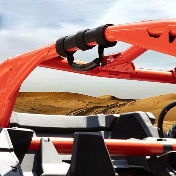 2Pcs UTV ATV Universal Sports Roll Bar Cages Grab Handle Hold For Jeep Armrest Can-am Commander Maverick x3 1000 Polaris RZR Ranger
