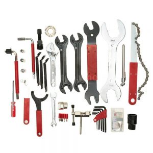 44PCS Complete Bike Bicycle Repair Tools Tool Kit Set Home Mechanic Cycling