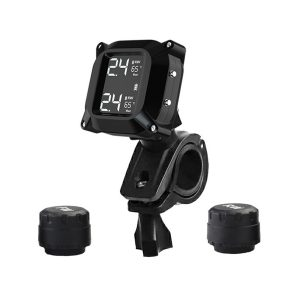 M6 LCD Display Motorcycle Real Time Tire Pressure Monitor System Waterproof TPMS Wireless External WI Sensors Motor Fat bike Bicycle Auto Tyre Alarm