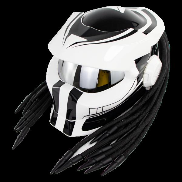 SOMAN Hunter Black Flip Up Custom Laser Light Antifogging Lens Full Face Helmets Cool Casco Moto Motorcycle Helmet