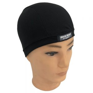 Grace Knight Quick Dry Hat Breathable Half Round Helmet Inner Cap Unisex Motorcycle Moisture Wicking Cooling Black Outdoor