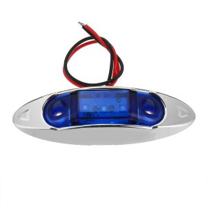10Pcs Blue 3LED 24V Side Marker Indicator Light Clearance Lamp Truck Trailer Lorry Van