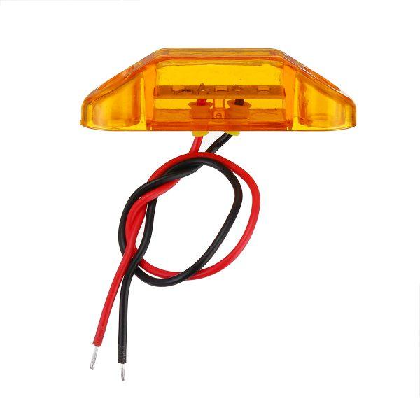 6Pcs Yellow 3LED 24V Side Marker Indicator Light Clearance Lamp Truck Trailer Lorry Van