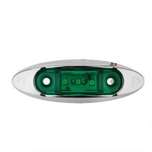 4Pcs Green 3LED 24V Side Marker Indicator Light Clearance Lamp Truck Trailer Lorry Van