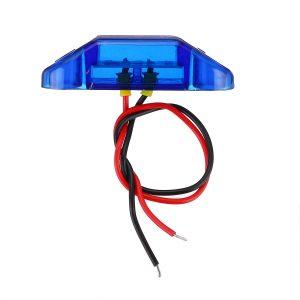 2Pcs Blue 3LED 24V Side Marker Indicator Light Clearance Lamp Truck Trailer Lorry Van