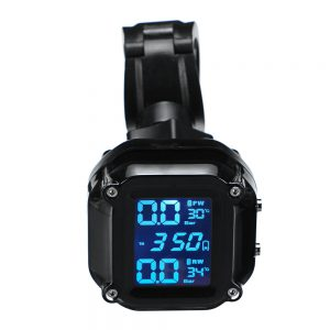 AN-11 Motorcycle Tire Pressure Monitoring System Real Time Sun Protection LCD Display 2 External WI Sensor Motor TPMS
