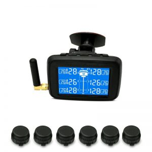 CAREUD U901T TPMS Wireless Tire Pressure Monitoring System with 6 External Sensors Replaceable Battery LCD Display For Auto Truck