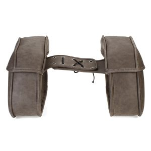 Pair Retro Travel Motorcycle PU Leather Saddlebags Pouch Carry Side Bags Universal