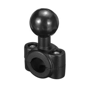 """Mini Rail Base with 1 Ball For Motorcycle 0.35″ to 0.61″ Diameter Handlebar Mount"""""""