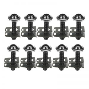 10Pcs M6 Motorcycle Bolts Spire Speed Fastener Clips Screw Spring Nuts 6*30mm