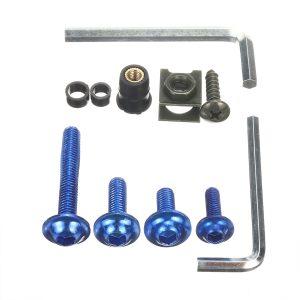 107pcs Motorcycle Aluminum Fairing Bolt Kit Fastener Clip Screw Washers 6 Colors