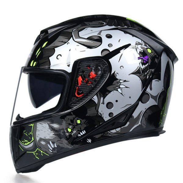 JIEKAI Double Visor Helmet Motorcycle Full Face Moto Helmets Motocross Helmet Casco Modular Motorbike Capacete Casco Moto