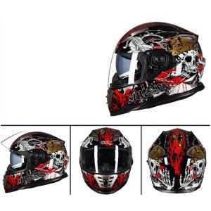 GXT 160 Flip Up Motorcycle Full Face Helmet Double Lens Casco Racing Capacete