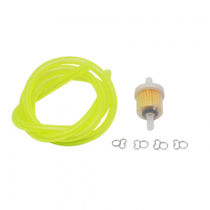 Inline Gas Petrol Fuel Valve Switch Clip Oil Filter Pipe Hose Line With Clips For Dirt Bike ATV UTV Scooter Motorcycle Universal