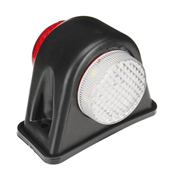 12V 24V 12 LEDs Mini Side Marker Light Lamp Rubber Trailer Truck Caravan Van
