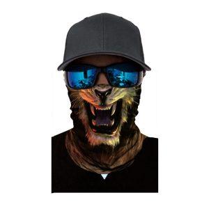25x51cm Animal Outdoor 3D Face Neck Warmer Mask Biker Dust Scarf Sunscreen Headband