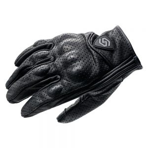 WUPP Motorcycle Riding Full Finger Gloves Leather Touch Screen Off-Road Racing Outdoor Sport With Holes