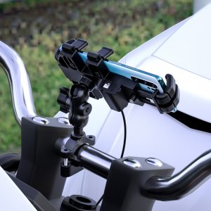 5V 2A Aluminum Alloy Phone Holder Mirror Handlebar For Motorcycle Octopus Stand Mobile