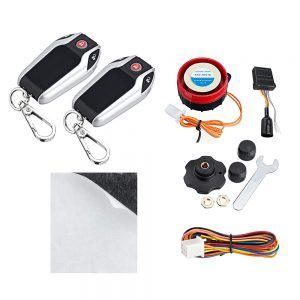 PKE Induction 12V Two-way 125dB Alarm Tire Pressure Monitoring System LCD Display Automatic Triact Remote Control Motorcycle Scooter Prevent Protection Security Anti-Thef System