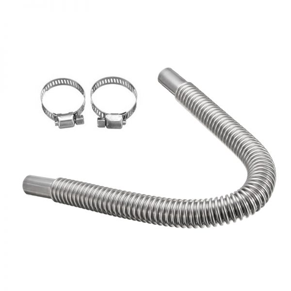 2-6.5FT Parking Air Heater Tank Exhaust Pipe Hose Diesel Gas Vent Discharge