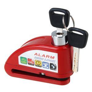 110DB Motorcycle Lock Alarm Disc Wheel Brake Pouch Lock Alarm Kit Bike Scooter Security Anti-theft 2 Keys