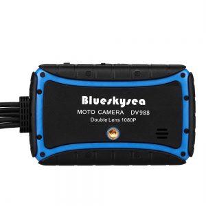 Blueskysea DV988 Motorcycle Dash Cam GPS WiFi Camera with Touch Screen Dual 1080P Lens Bike Recording DVR Waterproof Cmara moto