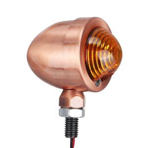 12V Motorcycle Bullet Turn Signal Indicator Light Lamp For Harley Cafe Racer 10mm Amber